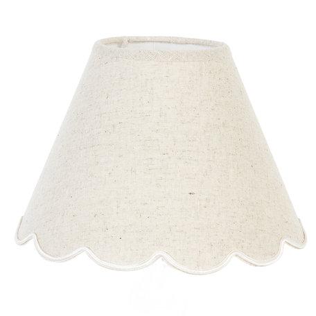 Lampenkap ø 22*16 cm / E27 Wit | 6LAK0028 | Clayre & Eef