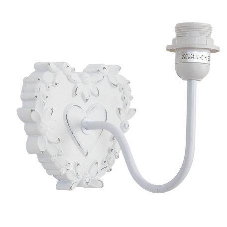 Wandlamp 17*15*22 cm E27/max 1*60W Wit | 6LMP020 | Clayre & Eef