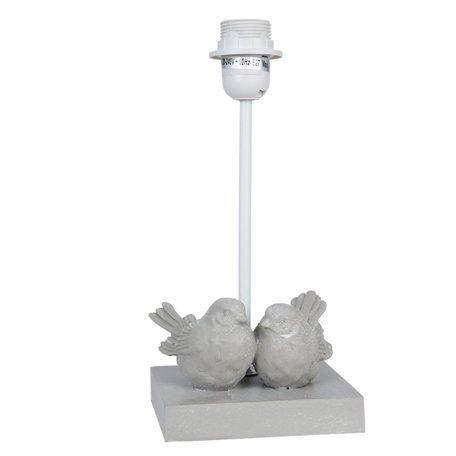 Lampenvoet 14*13*30 cm E27/max 1*60W Grijs | 6LMP328 | Clayre & Eef