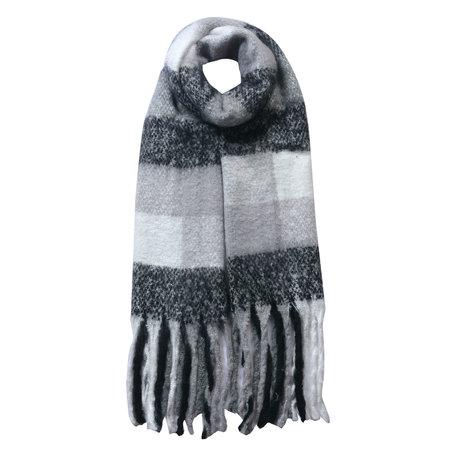 Sjaal 50*180 cm Zwart   JZSC0478Z   Clayre & Eef
