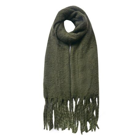 Sjaal 50*180 cm Groen   JZSC0479DGR   Clayre & Eef