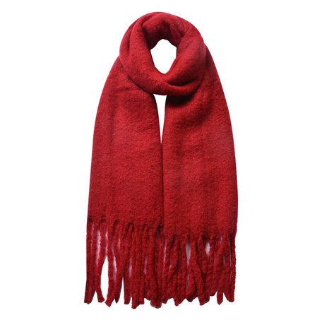 Sjaal 50*180 cm Rood   JZSC0479R   Clayre & Eef