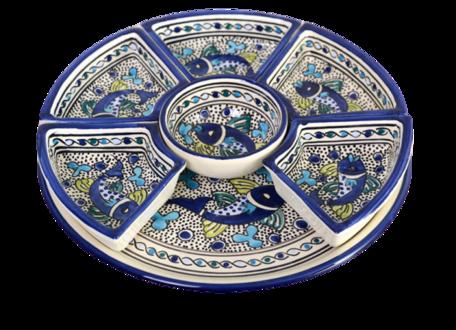 8 delig Tapas schaal Poisson Ø 30 cm | TS.AD.35 | Dishes & Deco
