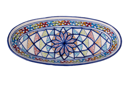 Ovale schaal Naoura 40 cm | OS.AR.40 | Dishes & Deco