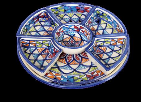 Tapas schaal 8 delig Naoura Ø 30 cm | TS.AR.35 | Dishes & Deco