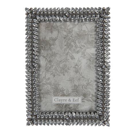 Fotolijst 12*2*17 cm / 10*15 cm Grijs | 2F0753 | Clayre & Eef