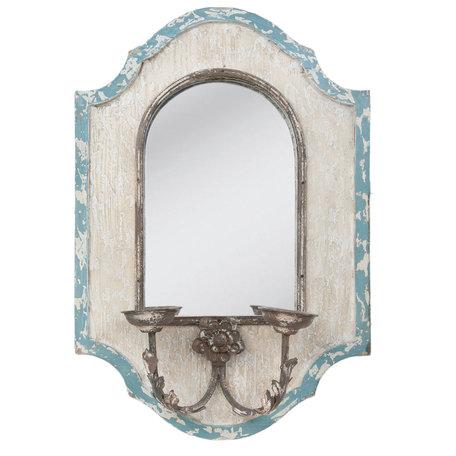 Spiegel 48*17*70 cm Wit   52S039   Clayre & Eef