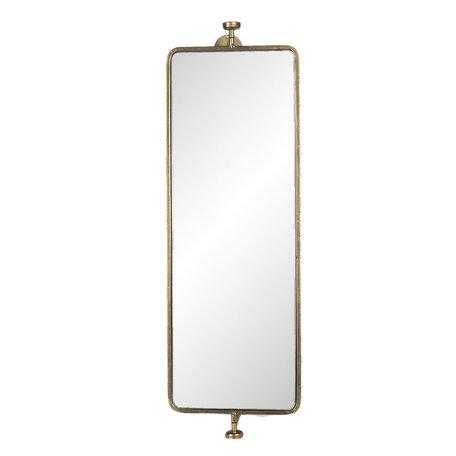 Spiegel 25*17*80 cm Goudkleurig   52S212   Clayre & Eef