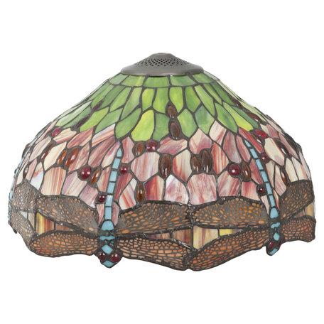 Lampenkap Tiffany ø 42*24 cm Meerkleurig | 5LL-9201 | Clayre & Eef