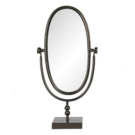 Spiegel 21*10*40 cm Zwart | 62S188 | Clayre & Eef