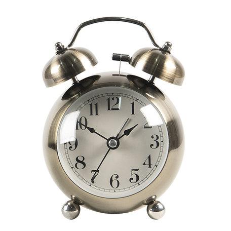 Wekker 9*5*12 cm / 1*AA Goudkleurig | 6AC0029 | Clayre & Eef