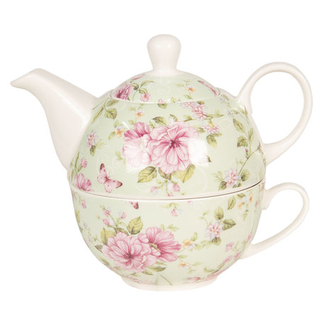 Tea for one set 16*10*14 cm 0.4L / 0.25L Multi | 6CE1074 | Clayre & Eef