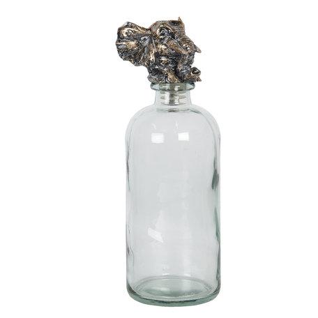 Fles met flessenstop ø 10*33 cm Transparant | 6GL2826 | Clayre & Eef