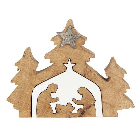 Decoratie kerstboom 23*3*17 Bruin | 6H1910 | Clayre & Eef