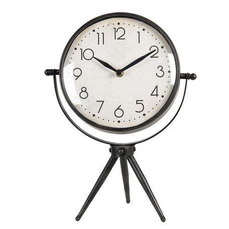 Tafelklok 25*13*34 cm / 1*AA Bruin | 6KL0658 | Clayre & Eef