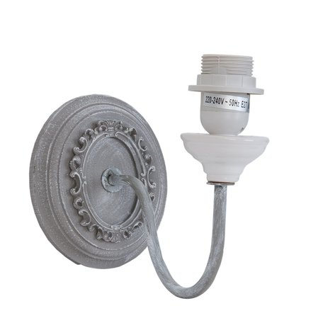 Wandlamp 23*13*19 cm E27/max 1*60W Wit | 6LMP368 | Clayre & Eef