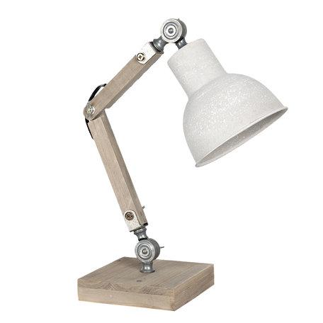 Bureaulamp 15*15*47 cm E27/max 1*60W Creme | 6LMP494N | Clayre & Eef