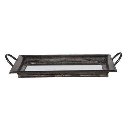 Dienblad met spiegel 48*25*7 cm Bruin | 6Y3865 | Clayre & Eef