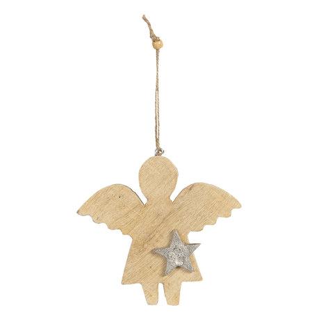 Decoratie hanger engel 14*2*15 cm Bruin | 6H1902M | Clayre & Eef