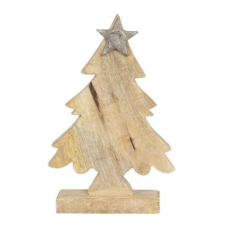 Decoratie kerstboom 15*5*20 cm Bruin | 6H1904M | Clayre & Eef