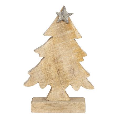 Decoratie kerstboom 12*5*15 cm Bruin | 6H1904S | Clayre & Eef