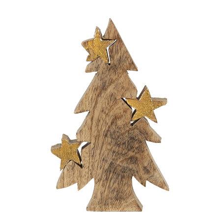 Decoratie kerstboom 10*3*16 cm Bruin | 6H1906 | Clayre & Eef