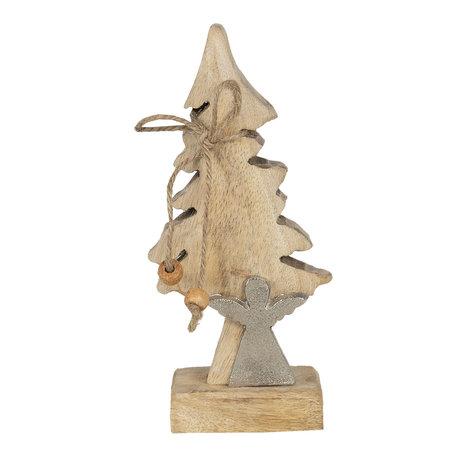 Decoratie kerstboom 7*5*17 cm Bruin | 6H1909 | Clayre & Eef