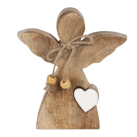 Decoratie engel 10*3*12 cm Bruin | 6H1911 | Clayre & Eef