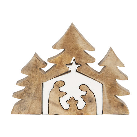Decoratie kerstboom 13*3*17 cm Bruin | 6H1913 | Clayre & Eef