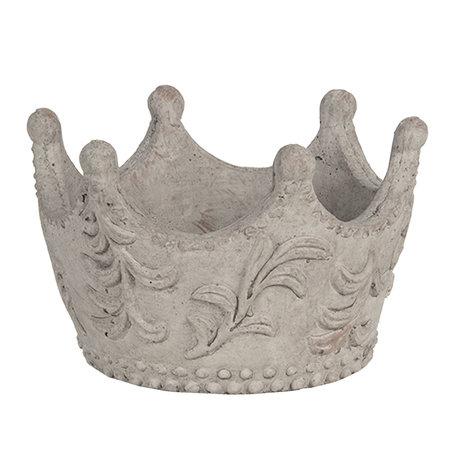 Decoratie kroon 18*17*12 cm Grijs | 6TE0300M | Clayre & Eef