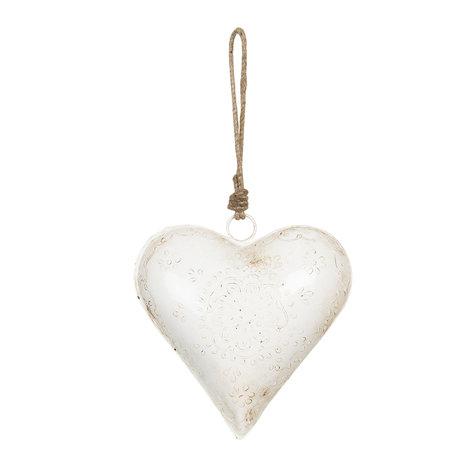 Decoratie hanger hart 16*4*16 cm Creme | 6Y3719 | Clayre & Eef