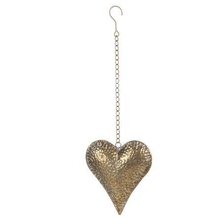 Decoratie hanger hart 18*5*20 cm Koperkleurig | 6Y4032 | Clayre & Eef
