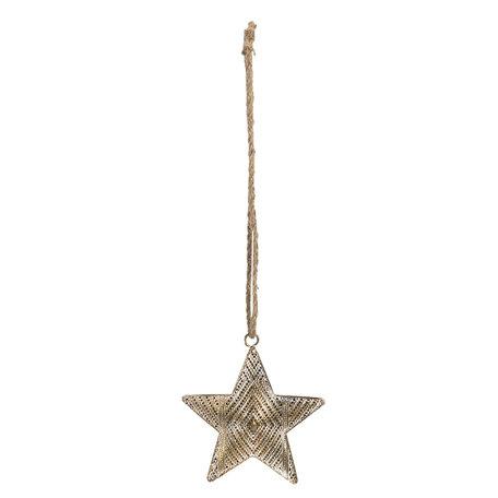 Decoratie hanger ster 14*2*15 cm Koperkleurig | 6Y4034 | Clayre & Eef