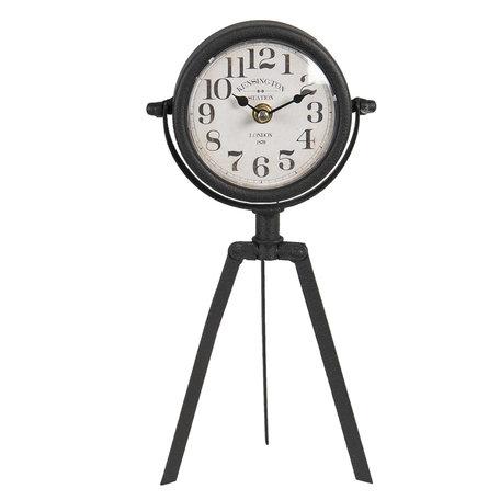 Tafelklok 15*5*32 cm / 1*AA Bruin | 6KL0663 | Clayre & Eef
