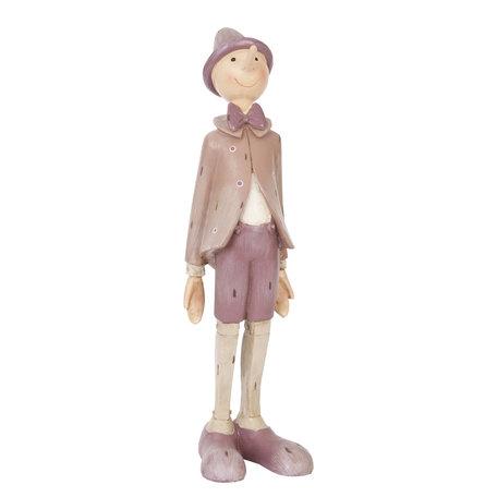 Decoratie figuur Pinokkio 9*8*30 cm Roze | 6PR0357 | Clayre & Eef
