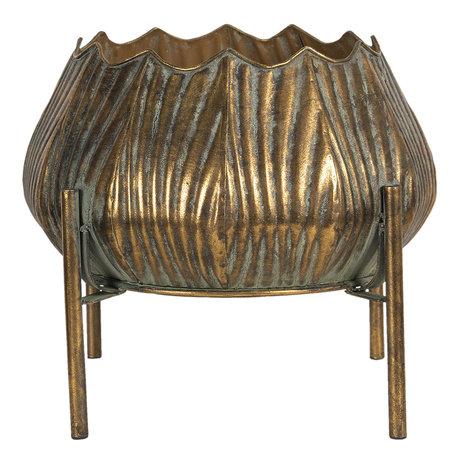 Decoratie pot metaal 33*33*28 cm Koperkleurig | 6Y4021 | Clayre & Eef