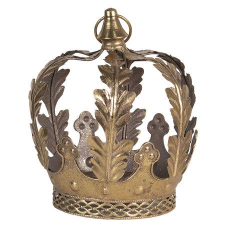 Decoratie kroon ø 22*25 cm Koperkleurig   6Y4029   Clayre & Eef
