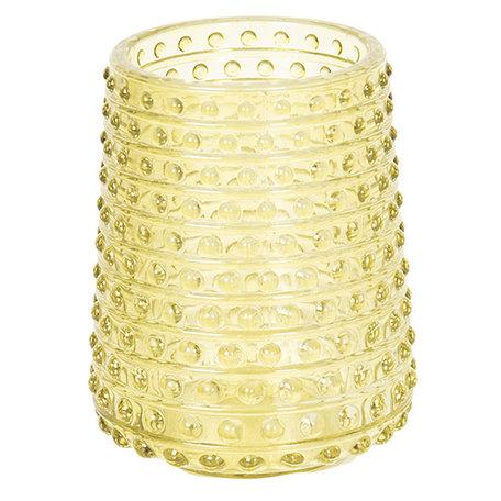 Waxinelichthouder ø 7*9 cm Geel | 6GL2434 | Clayre & Eef