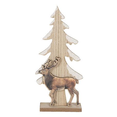 Decoratie kerstboom 11*5*24 cm Bruin | 6H1886 | Clayre & Eef