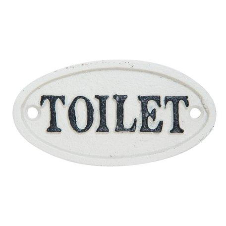 Toiletbordje 10*0.5*5 cm Wit   6Y1962   Clayre & Eef