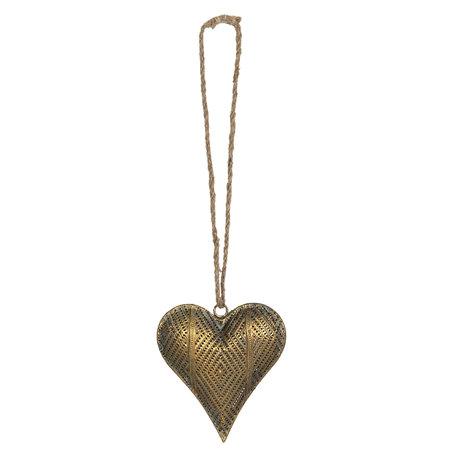 Decoratie hanger hart 14*4*16 cm Koperkleurig | 6Y4033 | Clayre & Eef