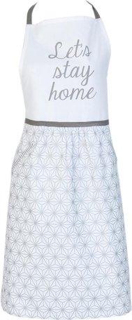Keukenschort 70x85 cm wit grijs zilver | LSH41 | Clayre & Eef