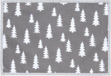 Placemat ( set 6 ) 48*33 cm Grijs wit  | LSH40 | Clayre & Eef