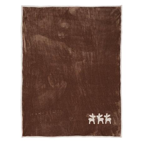 Plaid 130*160 cm Bruin | KT060.104 | Clayre & Eef