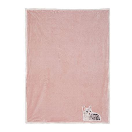 Plaid 130*160 cm Roze | KT060.101 | Clayre & Eef