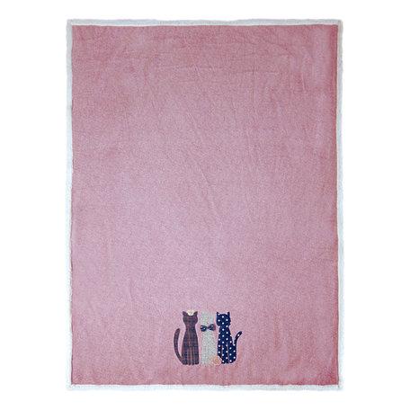 Plaid 130*160 cm Roze | KT060.108 | Clayre & Eef