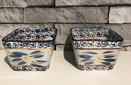 Tapas schaaltjes set 2 stuks 10 x 10 cm old world blue | Lavandoux