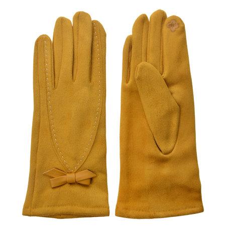 Handschoenen 8*24 cm Geel | JZGL0031 | Clayre & Eef