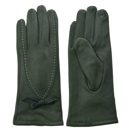 Handschoenen 8*24 cm Groen | JZGL0033 | Clayre & Eef