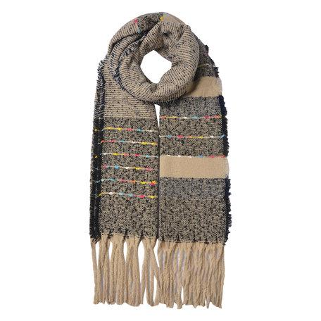 Sjaal 68*185 cm Grijs | JZSC0484 | Clayre & Eef